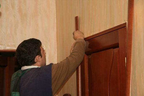 Как поставить обналичку на межкомнатную дверь