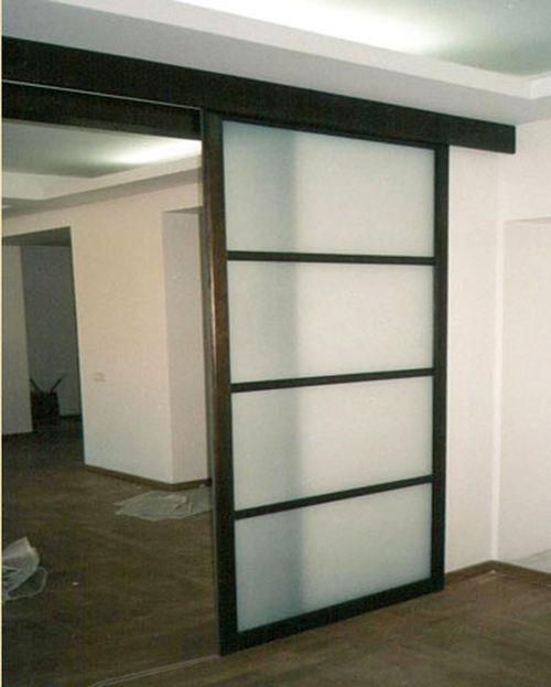 Межкомнатные двери купе: установка в квартире