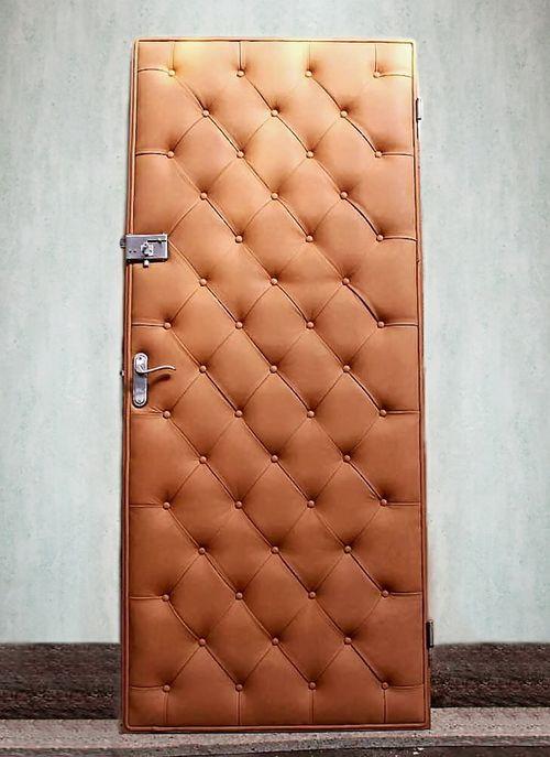 Обивка дверей кожей