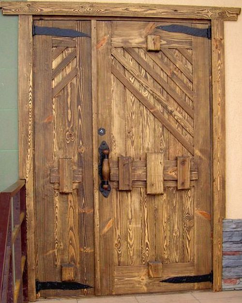 Двери металл дерево