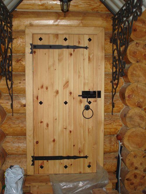 Делаем дверь в баню