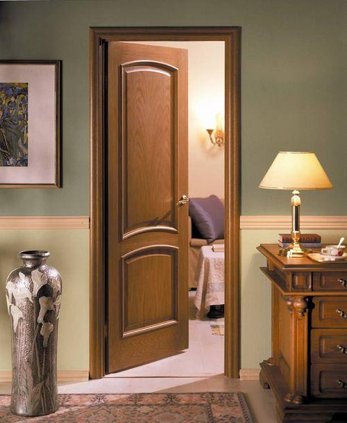 Дверь миланский орех в интерьере