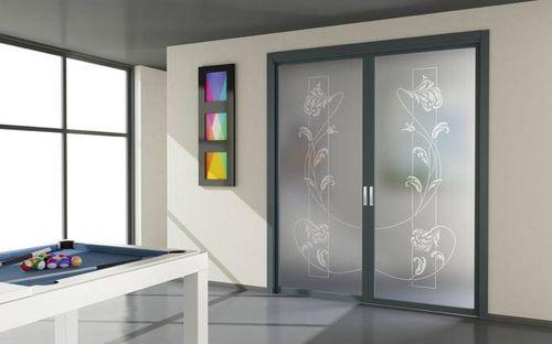Алюминиевые двери в интерьере квартиры