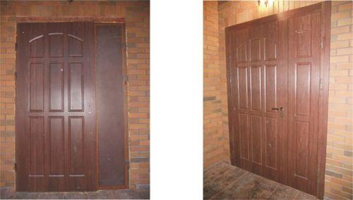 Установка входной металлической двери с видео