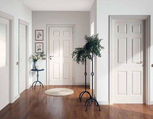 Выбираем белую входную дверь