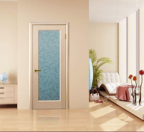 Дверь цвета беленый дуб в интерьере
