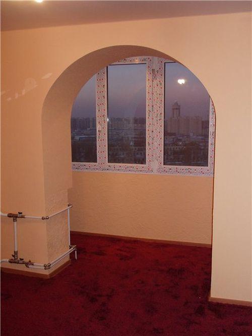 Арка на балкон: красивое оформление входа