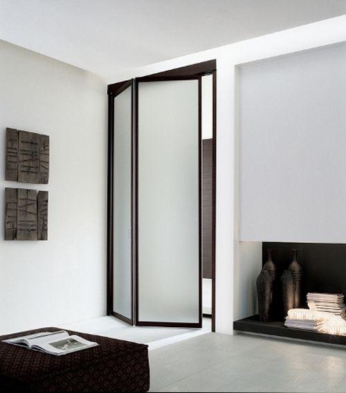 Виды межкомнатных складных дверей в интерьере