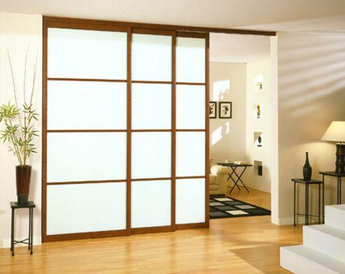Раздвижные двери перегородки в интерьере