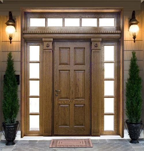 входные двери красивый дом