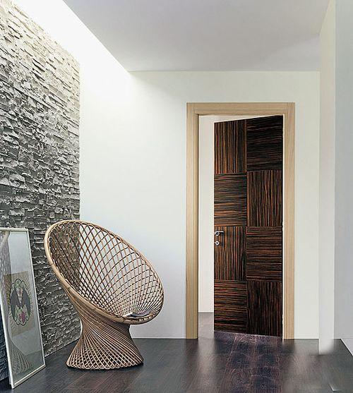 Дверь цвета Зебрано
