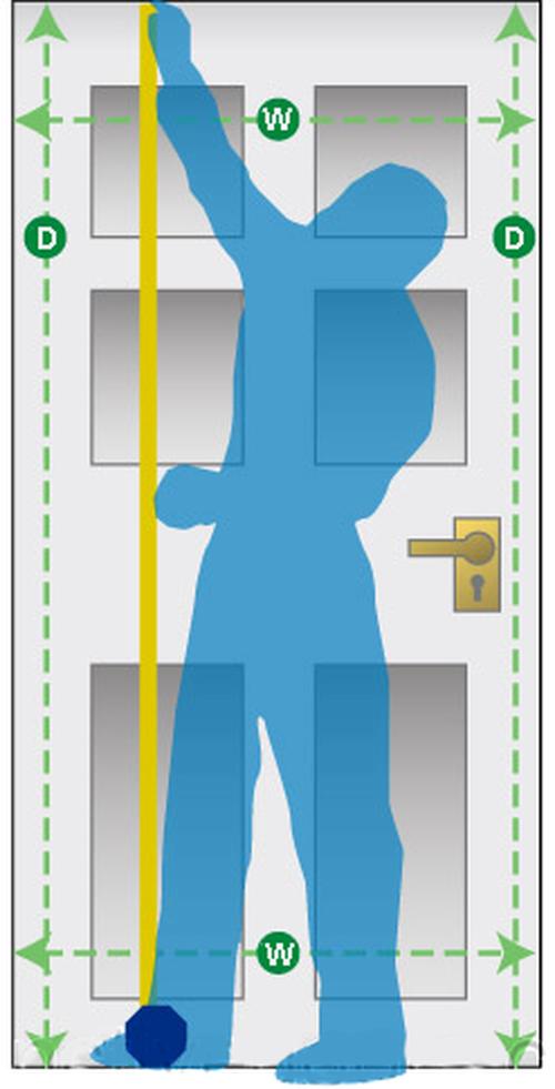 Процесс замера двери