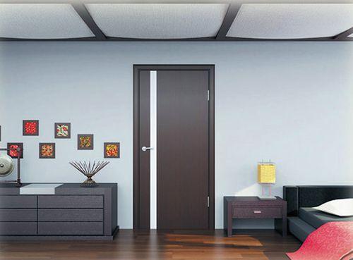 Дверь цвета венге
