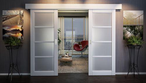 Выдвижные межкомнатные двери: выбор и установка