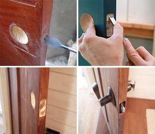 Как врезать замок в дверь своими руками