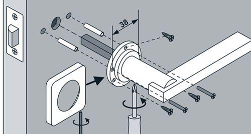 Как разобрать ручку межкомнатной двери без помощи мастера