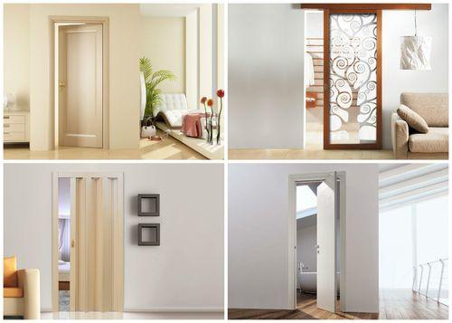 Варианты конструкций межкомнатных дверей