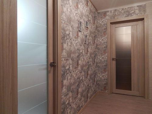 Остекленные двери капучино