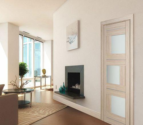 Модели межкомнатных дверей цвета капучино