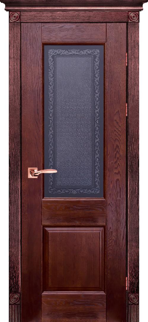 Остекленная дверь из массива