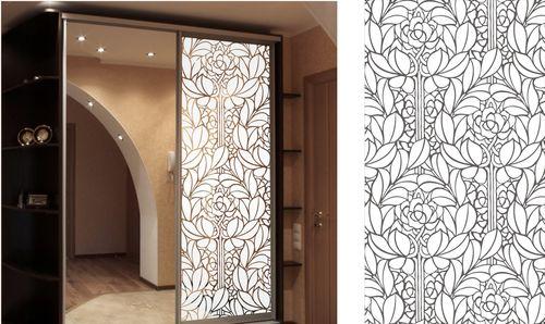 Двери с пескоструйными мотивами