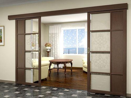 Обзор вариантов межкомнатных дверей в зал