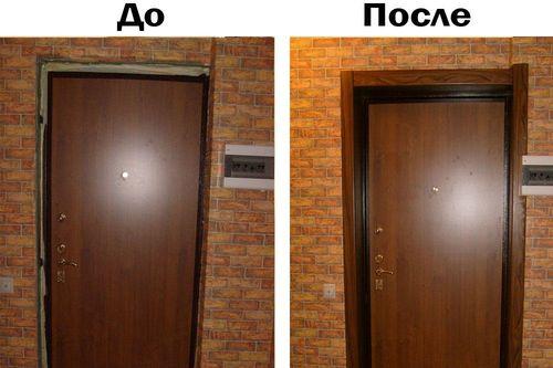 До и после установки доборов