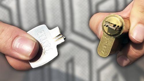 Обломался ключ в замке