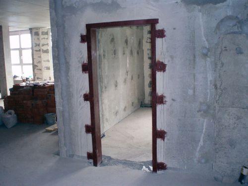 Усиление дверного проема швеллером