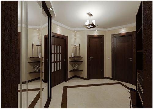 Модные варианты дизайна с темными дверьми и светлым полом