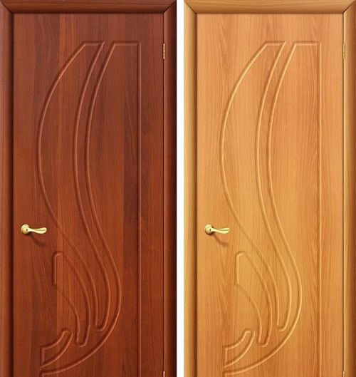 Текстура двери приятна и глазу и на ощупь