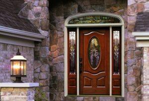 Витражные входные двери