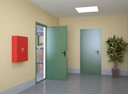 Обзор про металлические технические двери